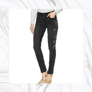 Seven7 Embroidered Black Jeans